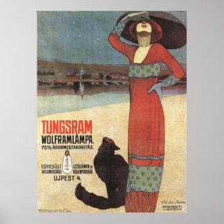 Art Nouveau Vintage Advertisement Poster