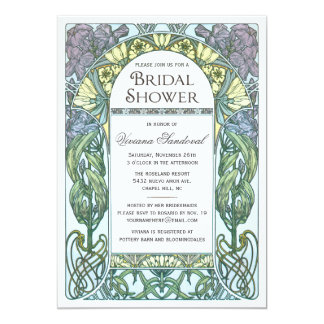 Art Nouveau Vintage Bridal Shower Invitations