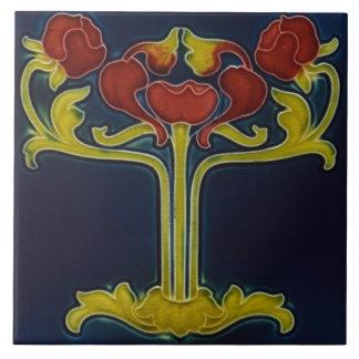 Art Nouveau Vintage Design Feature Backsplash Tile