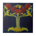 """Art Nouveau Vintage Design Feature Backsplash Tile<br><div class=""""desc"""">Looking for unique Art Nouveau tile backsplash ideas. Own a beautiful ceramic tile replicated after the ceramic Artists of the Art Nouveau period. Ceramic tiles have been a traditional means of decorating back splashes in kitchens and bathroom walls for years. Now you can add beautiful art to any tile project...</div>"""