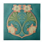"""Art Nouveau Vintage Design Feature Tile 2 Sizes<br><div class=""""desc"""">4.25 or 6 inch Looking for unique tile backsplash ideas, how about this Stunning Art Nouveau Vintage Design Feature Tile. This is the perfect feature tile for all those interior design ideas like your kitchen backsplash, feature wall tiles, fireplace surrounds, bathroom and shower walls, etc. because you can order as...</div>"""