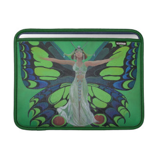 Art Nouveau Vintage Flapper With Butterfly Wings MacBook Sleeve