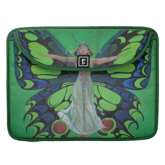Art Nouveau Vintage Flapper With Butterfly Wings Sleeve For MacBooks