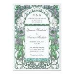 Art Nouveau Vintage Floral Wedding Invitations