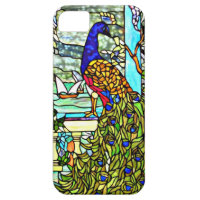 Art Nouveau Vintage Stained Glass Peacock iPhone 5 Covers