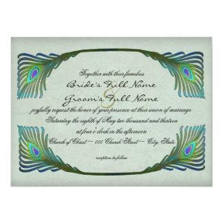 Art Nouveau Vintage Style Wedding 6.5x8.75 Paper Invitation Card