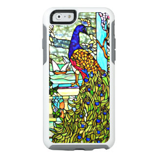 Art Nouveau Vintage Tiffany Stained Glass Peacock OtterBox iPhone 6/6s Case