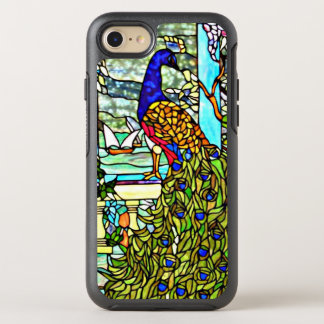 Art Nouveau Vintage Tiffany Stained Glass Peacock OtterBox Symmetry iPhone 7 Case