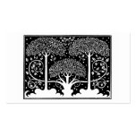 Art Nouveau Vintage Tree Pattern Double-Sided Standard Business Cards (Pack Of 100)