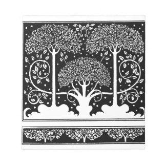 Art Nouveau Vintage Tree Pattern Notepad