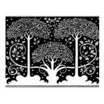 Art Nouveau Vintage Tree Pattern Post Card