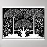 Art Nouveau Vintage Tree Pattern Posters