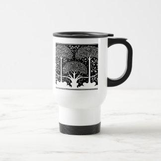 Art Nouveau Vintage Tree Pattern Travel Mug