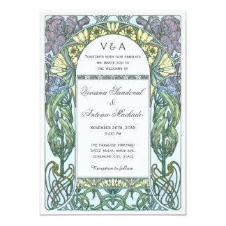 Art Nouveau Vintage Wedding Invitations VII