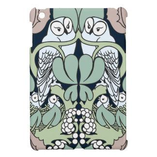 Art Nouveau Voysey Owls Nest Pattern iPad Mini Covers