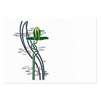 Art nouveau water lilies business card template