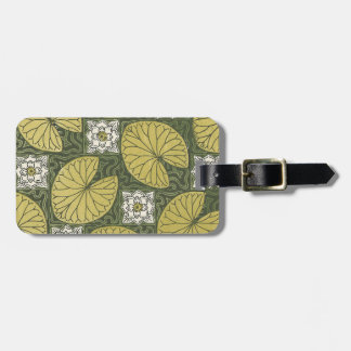 Art Nouveau Water Lily Pads Luggage Tag