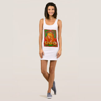 Art Nouveau Watercolor Womanw/Sunflowers Art Dress