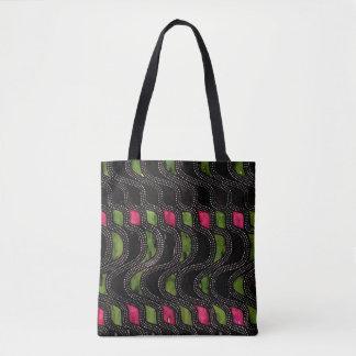 Art Nouveau Wave Pattern Tote Bag