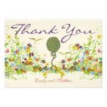 Art Nouveau Wedding Thank You Cards