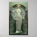 Art Nouveau White Poster
