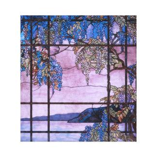 Art Nouveau Willow Tree Scenic Window Design Canvas Print