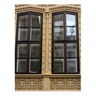 art-nouveau windows postcard