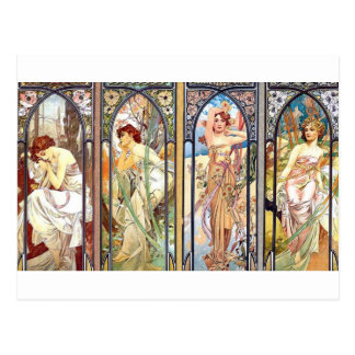 Art Nouveau Windows Postcard