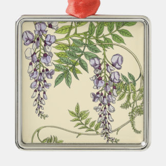 Art nouveau wisteria metal ornament