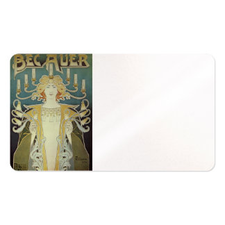 Art Nouveau Woman with Candles Double-Sided Standard Business Cards (Pack Of 100)