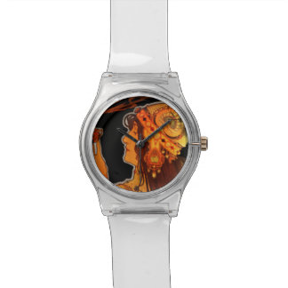 Art Nouveau Woman with Espresso Watch