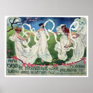 Art Nouveau World Arts Exposition Advertisement Poster