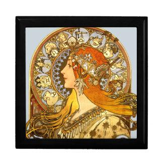Art Nouveau Zodiac Jewelry Box