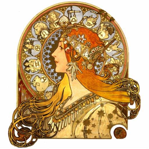 Art Nouveau Zodiac Photo Sculpture Magnet