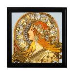 Art Nouveau Zodiac Trinket Box