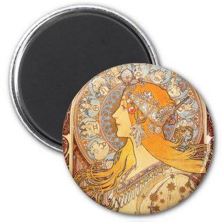 Art Nouveau Zodiac Woman Magnet