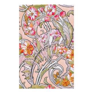 Art Noveau Florals Stationery