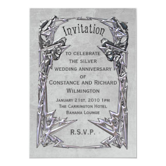 Art Noveau Frame Grey Card