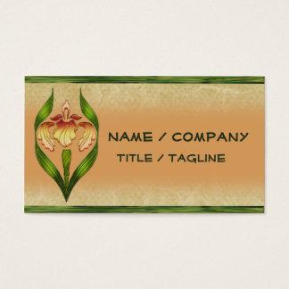 Art Noveau Iris Business Card
