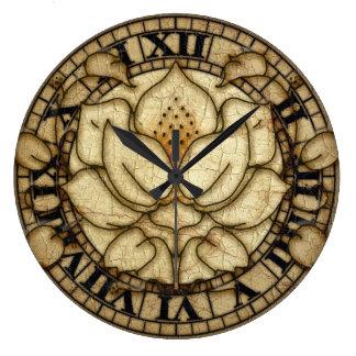 Art Noveau Lily Motif Large Clock