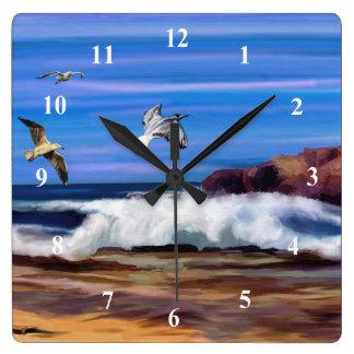 Art Ocean Seagulls Wall Clock