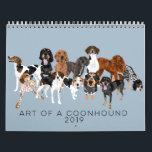 """Art of a Coonhound 2019 Calendar<br><div class=""""desc"""">Art of a Coonhound 2019 Calendar</div>"""