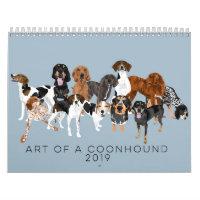 Art of a Coonhound 2019 Calendar