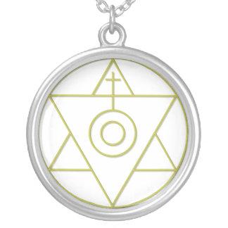 Art Of Alchemy Round Pendant Necklace