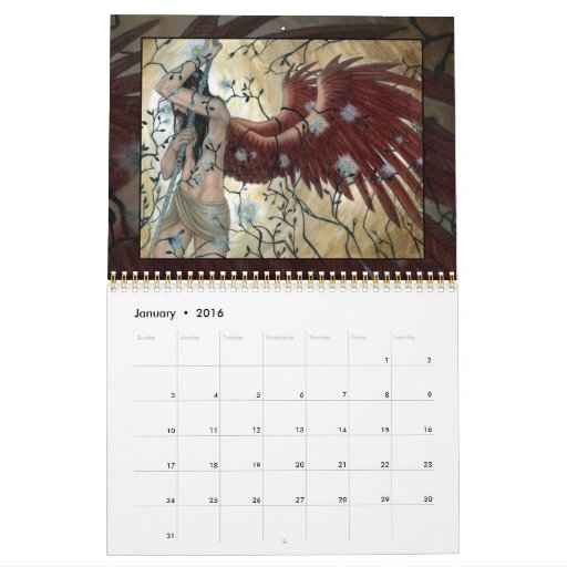 Art of Angela Sasser - Series I - Fantasy Calendar