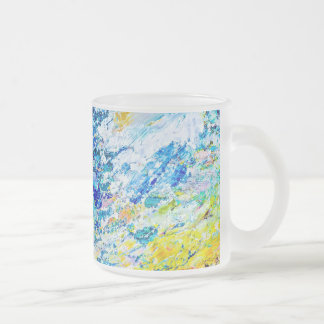Art of color palette 10 oz frosted glass coffee mug