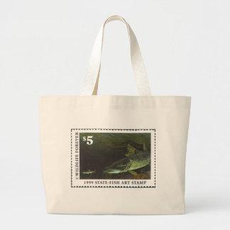 Art of Conservation Stamp - 1999 Large Tote Bag