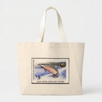 Art of Conservation Stamp - 2009 Large Tote Bag