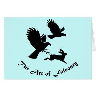 Art of Falconry - Harris Hawks Card