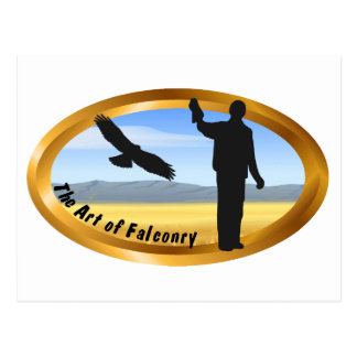 Art of Falconry - Oval Postcard